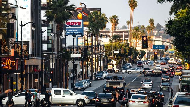 Hollywood traffic, Los Angeles, California