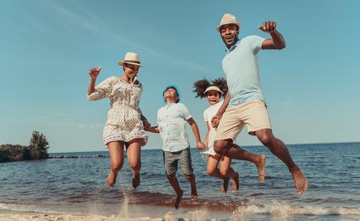 family, parents, kids, beach, family vacation