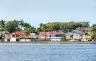 Waterside Scenery in Belize City