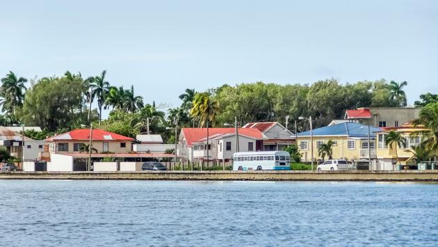 Waterside Scenery in Belize City