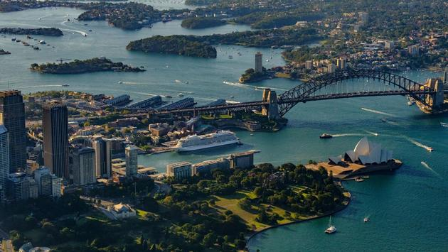 Viking cruise ship in Sydney