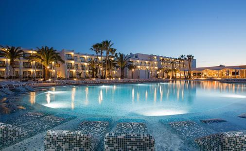 Palladium, hotels, pools, resort, hotel at night
