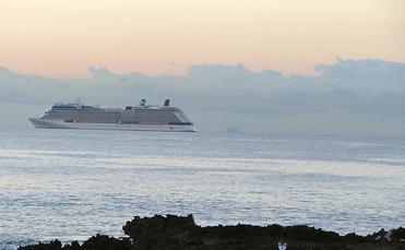 Cruise ship departure