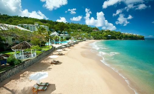 Sandals, beach, hotel beach, resort beach