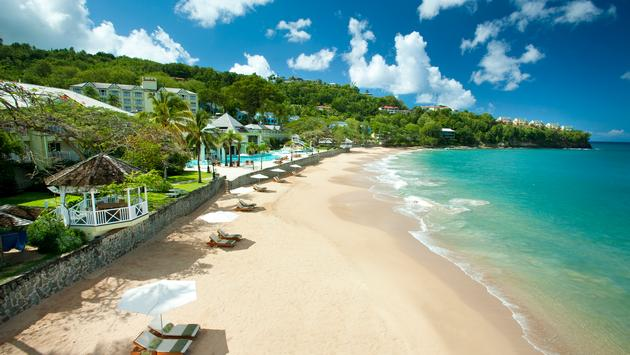 Sandals, beach, hotel beach, resort beach