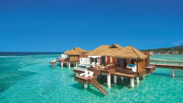 Sandals, bungalow, water bungalows, luxury rooms