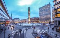 Sergels torg central public square in Stockholm, Sweden