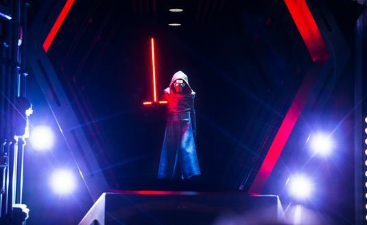 Kylo Ren on Walt Disney World's Rise of the Resistance at Star Wars: Galaxy's Edge