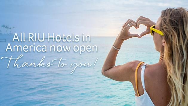 RIU has completed the reopening of all its hotels in America