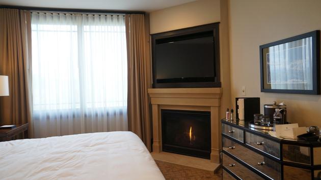 Bedroom inside of the Waldorf Astoria Park City