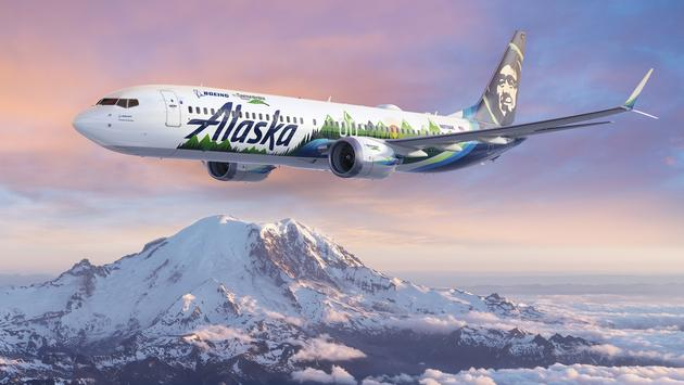 An Alaska Airlines 737-9 is serving as the flying test lab for Boeing's 2021 ecoDemonstrator program.
