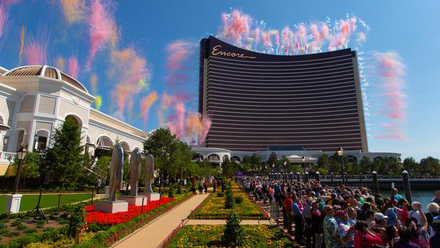 Encore Boston Harbor's Grand Opening Fireworks. (