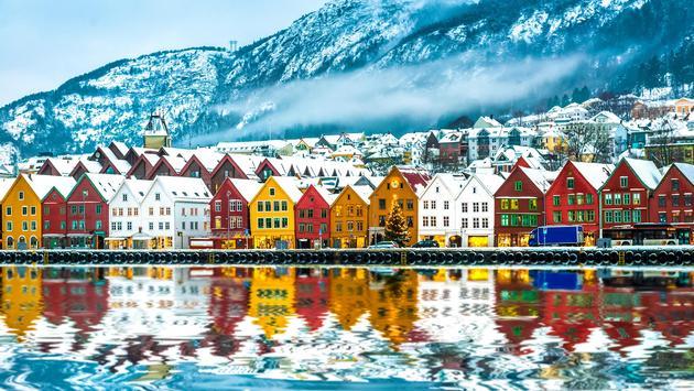 View on Bruges in Bergen, Norway