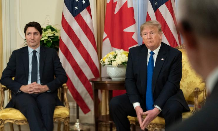 U.S. President Trump meeting with Canadian Prime Minister Justin Trudeau