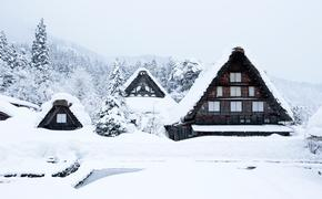 Ogimachi Village, Japan, snow, Unesco