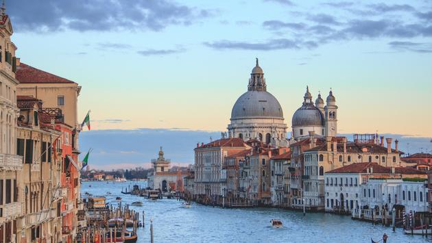 View from Academia Bridge, Venice, Italy