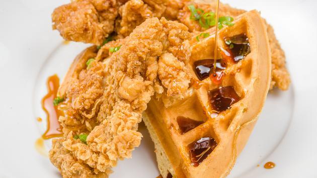 Fried Chicken & Waffles, Royal Sonesta New Orleans