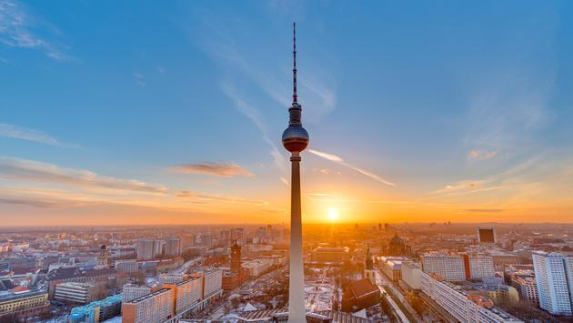 Beautiful sunset in Berlin