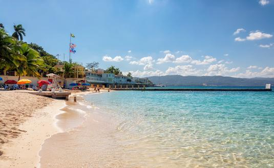 A beach in Montego Bay, Jamaica