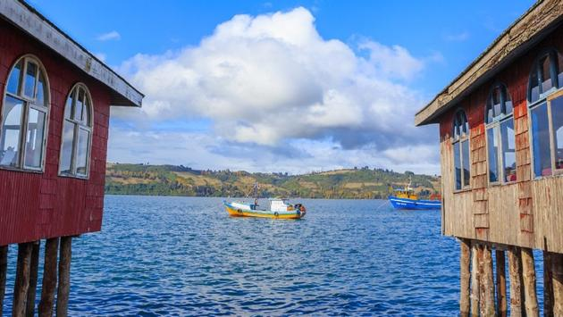 Castro, a city in Chiloé Island, Chile