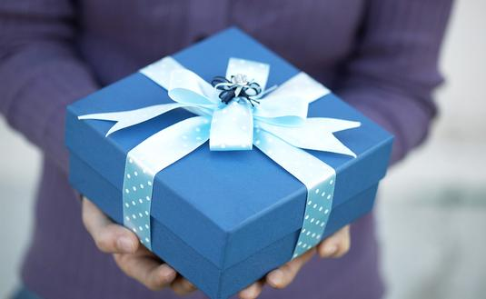 hands holding gift present