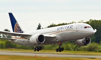 First United Boeing 787 Production Flight