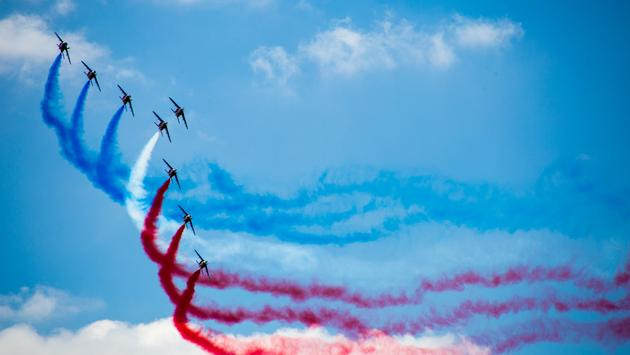 Aerial display at the 53rd edition of the Paris Air Show