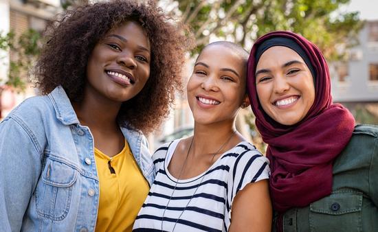 women, diversity, friends