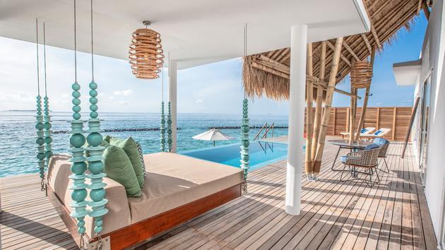 Villa veranda at Emerald Maldives Resort & SPA