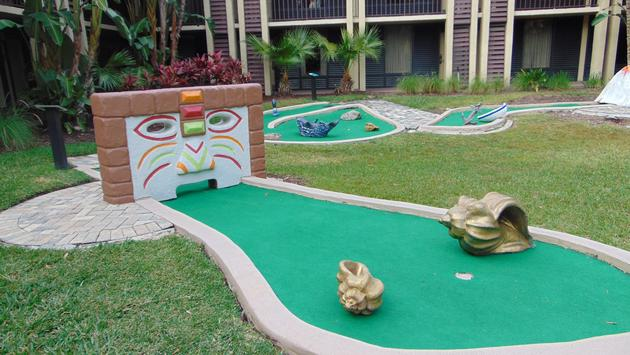 Nine-hole miniature golf course at DoubleTree by Hilton Hotel Orlando at SeaWorld