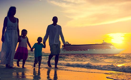 PHOTO: Family Children Beach Cruise Ship Relaxation Concept (photo via Rawpixel / iStock / Getty Images Plus)