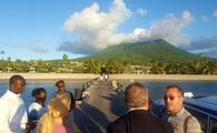 Four Seasons Nevis pier facing Nevis Peak