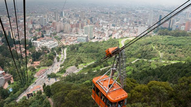 Cable car in Bogota, Colombia