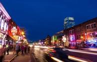 Broadway Street in Downtown Nashville, Tennessee