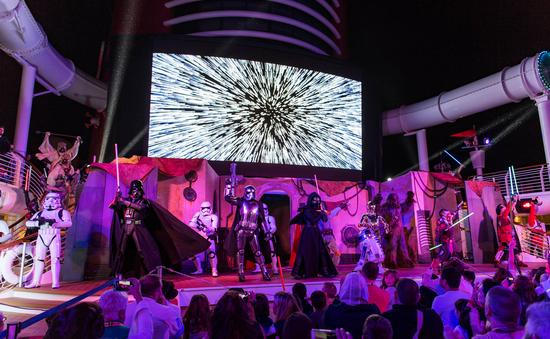 """""""Summon the Force"""" deck party Star Wars Day at Sea on Disney Fantasy"""
