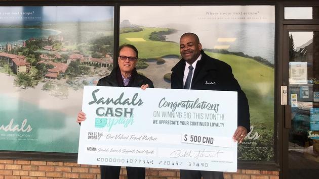 Sandals Cash Splash Winner