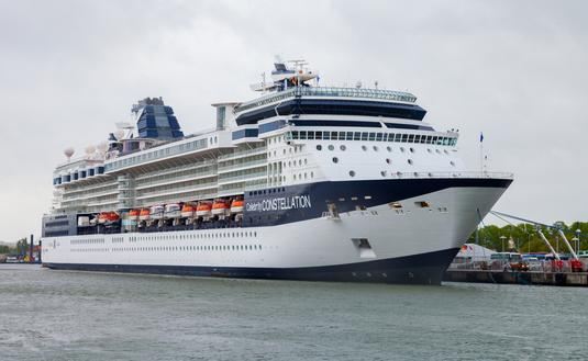 Celebrity Constellation docked in Warnemuende, Germany