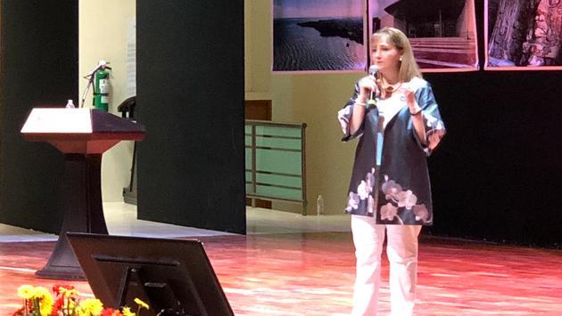 Gloria Guevara, ex secretaria de Turismo de México, dice que no hay que estigmatizar con el Coronavirus. Foto de WTTC)