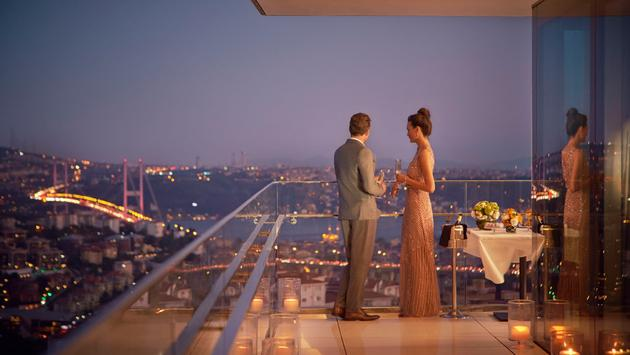 Raffles Istanbul overlooking Bosporus