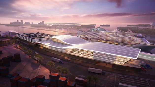 Rendering of MSC's new PortMiami Terminal.