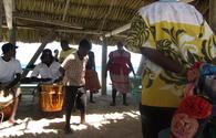 Garifuna dancers at Laughing Bird Cay in Belize