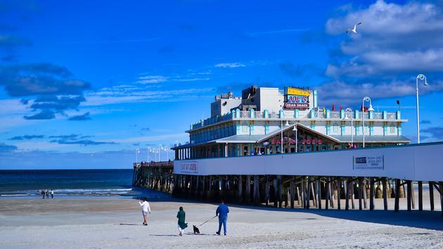 Daytona Beach, Florida, Boardwalk, Pier, Beach, Ocean