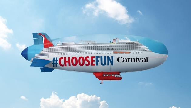 In the next 30 days, the Airship will float above Dallas and Houston. It then continues to the homeports of Galveston, New Orleans, Mobile, Tampa, Miami, Fort Lauderdale, Port Canaveral, Jacksonville and Charleston before ending in Atlanta. (Photo courtesy of Gary Miller/Carnival Cruise Line)