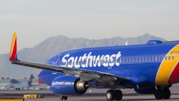 Southwest Airlines Boeing 737 on a taxiway.