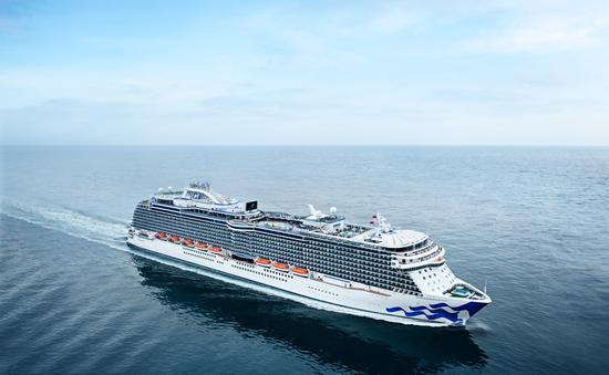 Regal Princess, a Princess cruise ship, underway on a calm sea