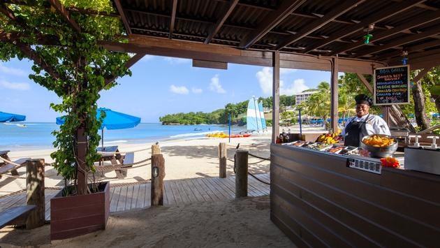 Sand Pit BBQ, St. James's Club Morgan Bay, Saint Lucia