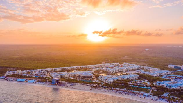 Aerial View of the Moon Palace Cancun.