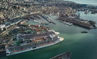 MSC Grandiosa in Genoa, Italy, on Jan. 24, 2021