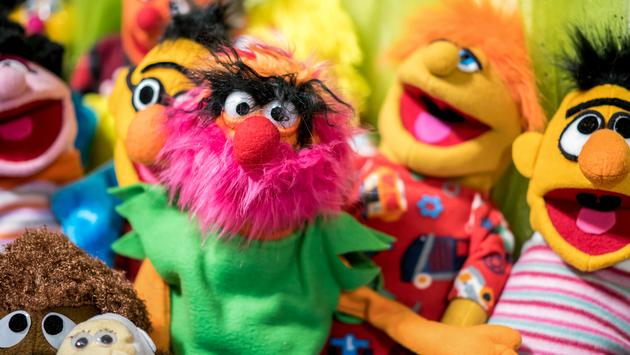Puppets, Seasame, Street
