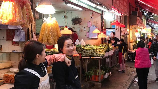 A Wet Market in Hong Kong